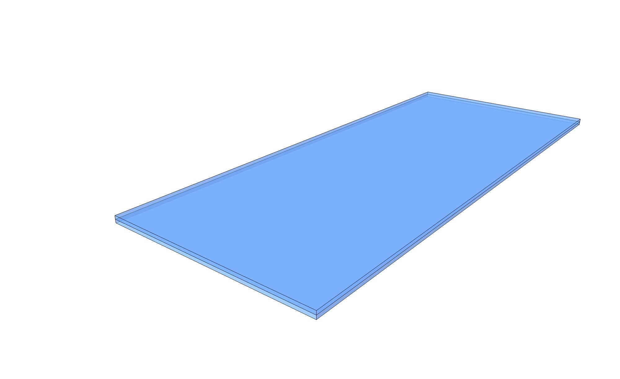 Kolesarnice - kaljeno steklo