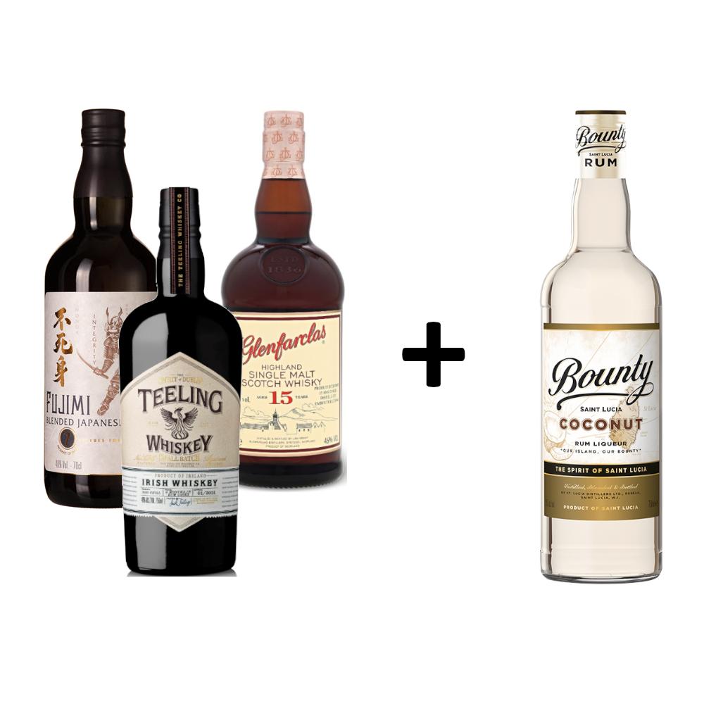 Komplet_Fujimi_Glenfarclas_Teeling_Bounty_Coconut_rr_selection_poslovna_darila_spletna_trgovina_alkoholne_pijace_slovenija_gin_rum.png