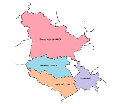 Območje delovanja Centra za pomoč na domu Maribor
